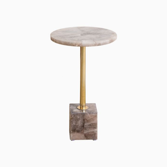 Semi Precious Stone & Brass Table