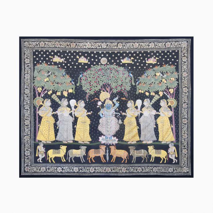Sharad Purnima Pichwai Painting