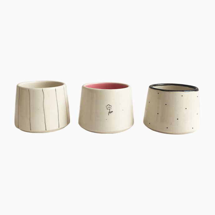 Short Mugs/ Dip bowls - SET OF 6