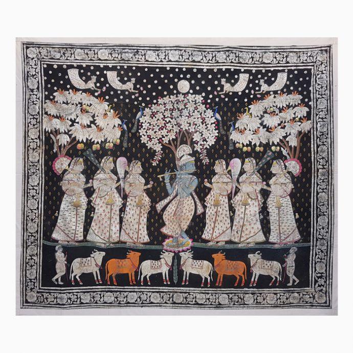 Shri Krishna Leela Pichwai Painting