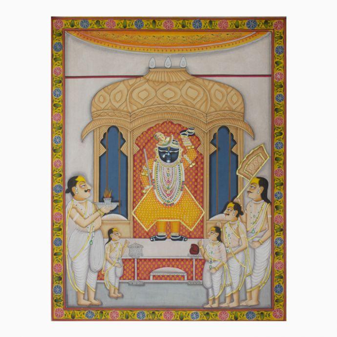 Shrinathji Manorath Pichwai Painting