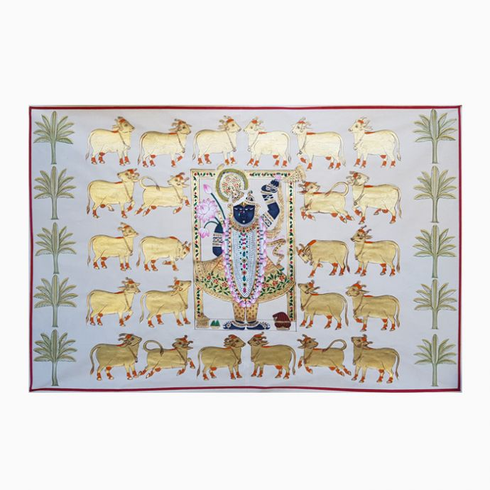 Gopashtami Rajbhog Swaroop - White And Gold