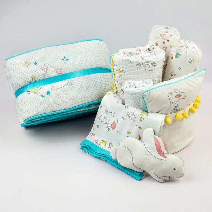 """""""Welcome Home"""" Organic Crib Gift Hamper (Snuggle Bunny)"""
