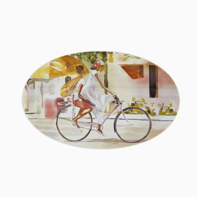 Oval Platter Sem Título - Pedalando