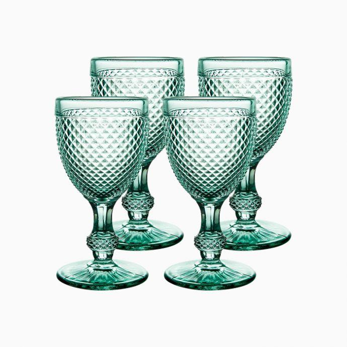 Red Wine Goblets (Set of 4) - Bicos Verde