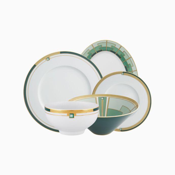 Emerald Dinner Set
