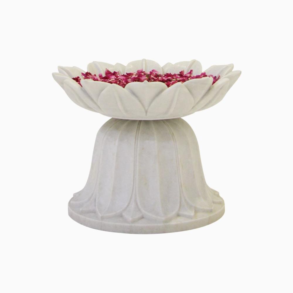 Lotus Urli with Stand